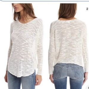 Helmut Lang silk irregular sweater off white